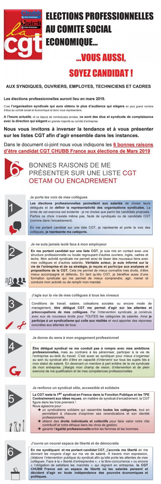 6 bonnes raisons d etre candidat cgt