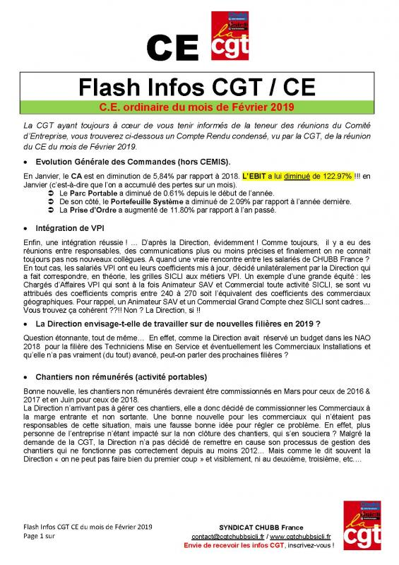 Flash info ce cgt 022019