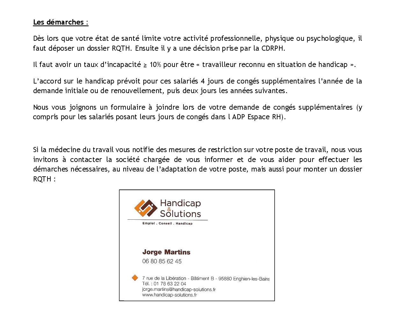 Information sur les droits des travailleurs reconnus en situation de handicap2