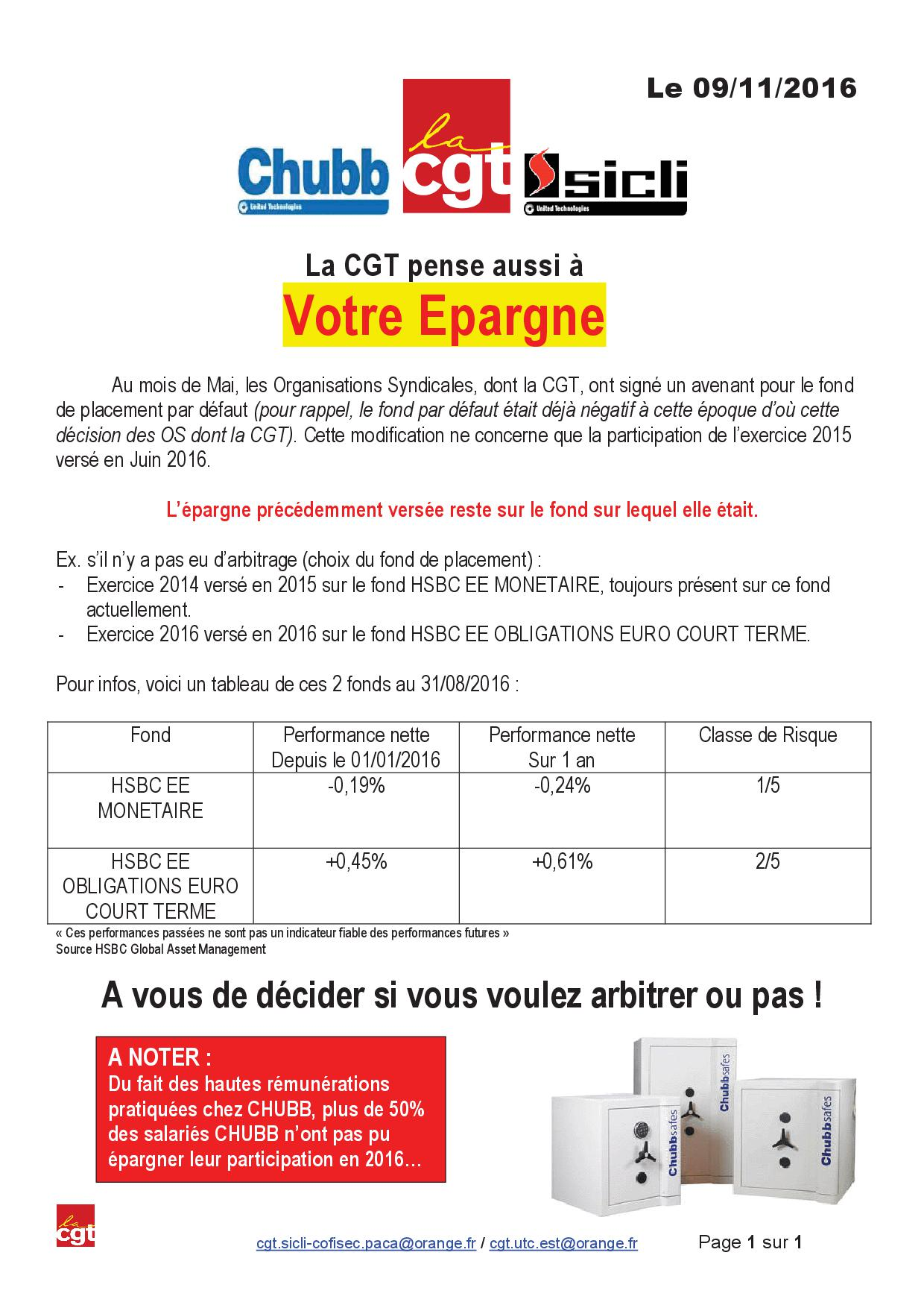 Tract epargne salariale